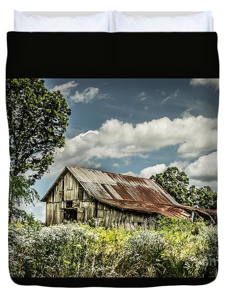Duvet Cover featuring the photograph Summer Barn by Debbie Green