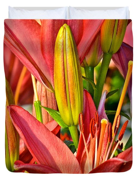 Summer Bouquet Duvet Cover by Frozen in Time Fine Art Photography