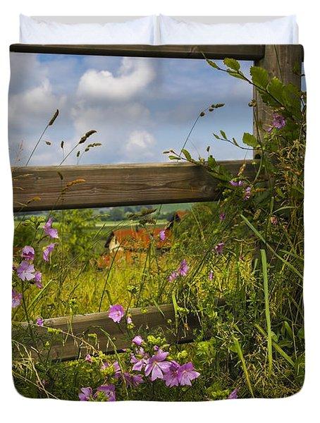 Summer Breeze Duvet Cover by Debra and Dave Vanderlaan