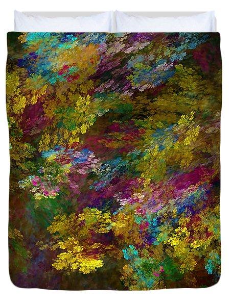 Duvet Cover featuring the digital art Summer Burst by Olga Hamilton