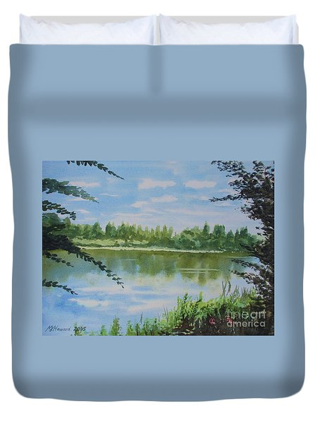 Summer By The River Duvet Cover