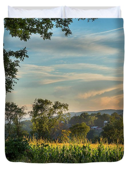Summer Corn Square Duvet Cover