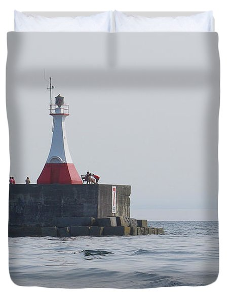 Duvet Cover featuring the photograph Summer Day by Marilyn Wilson