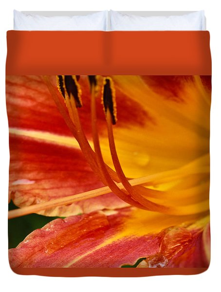 Summer Daylily Duvet Cover by Julie Andel