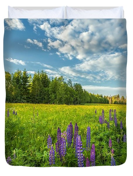 Duvet Cover featuring the photograph Summer Dream by Rose-Maries Pictures