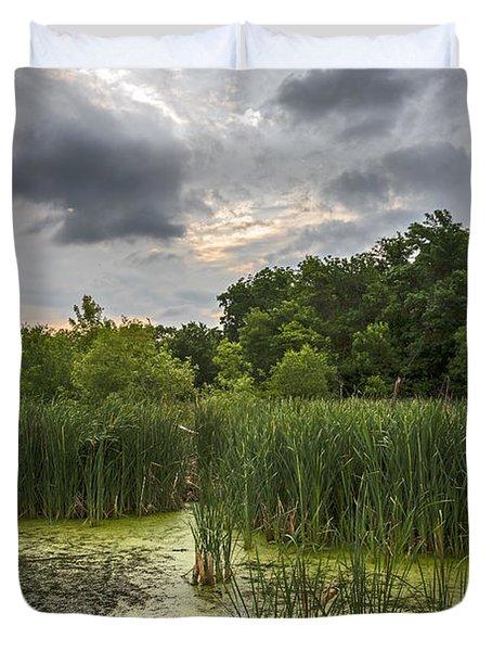 Summer Evening Clouds Duvet Cover