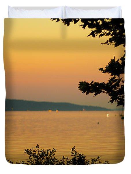 Summer Evening On Cayuga Lake Duvet Cover