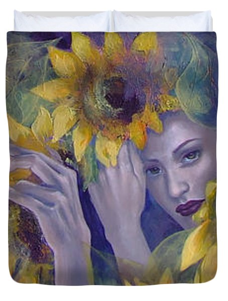 Summer Fantasy Duvet Cover by Dorina  Costras