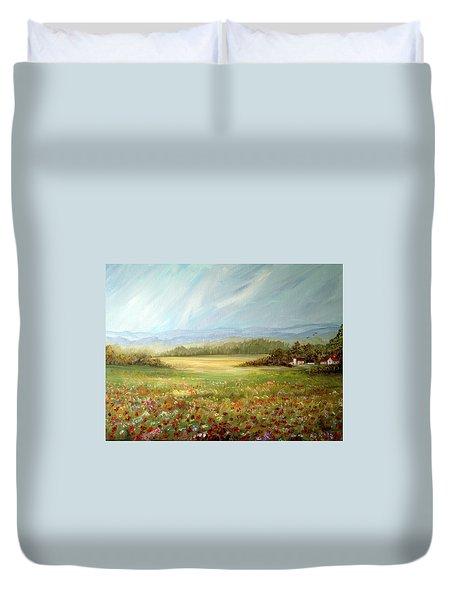 Summer Field At The Farm Duvet Cover