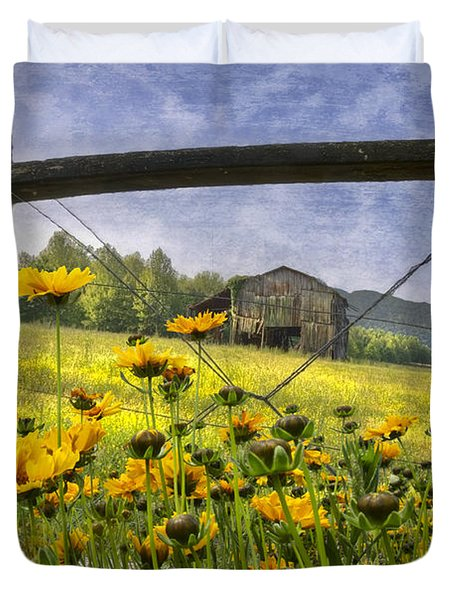 Summer Fields Duvet Cover by Debra and Dave Vanderlaan