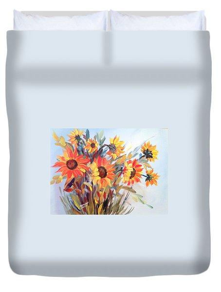 Summer Flowers Duvet Cover