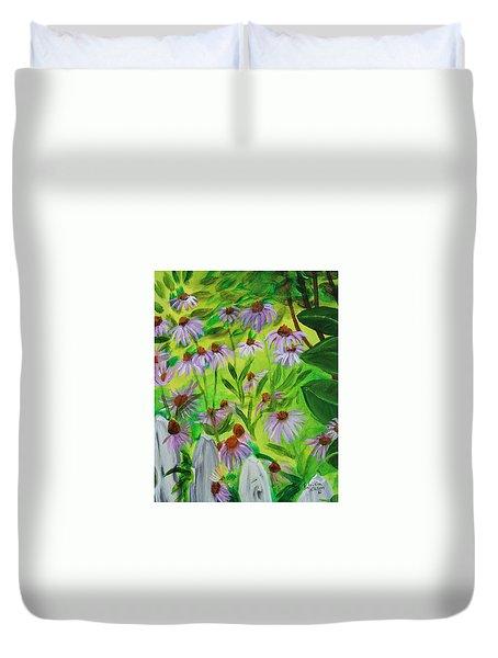 Summer Flowers In Peculiar Mo. Duvet Cover