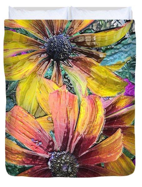 Summer Flowers One Duvet Cover