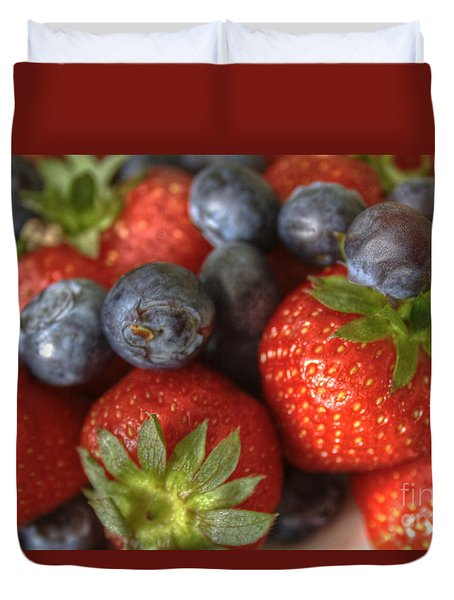 Summer Fruits Duvet Cover by Tracy  Hall