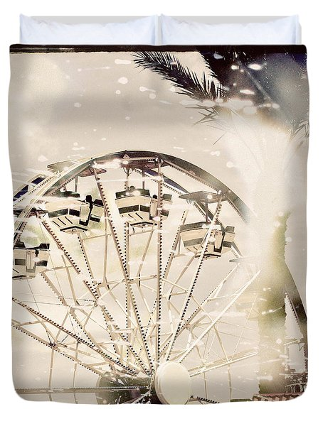 Duvet Cover featuring the photograph Summer Fun by Trish Mistric
