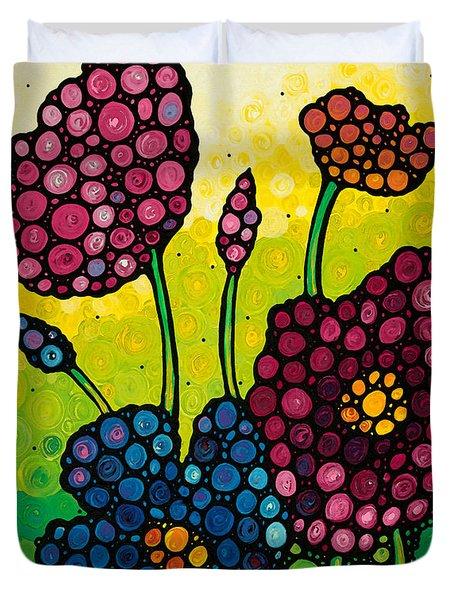 Summer Garden 2 Duvet Cover by Sharon Cummings
