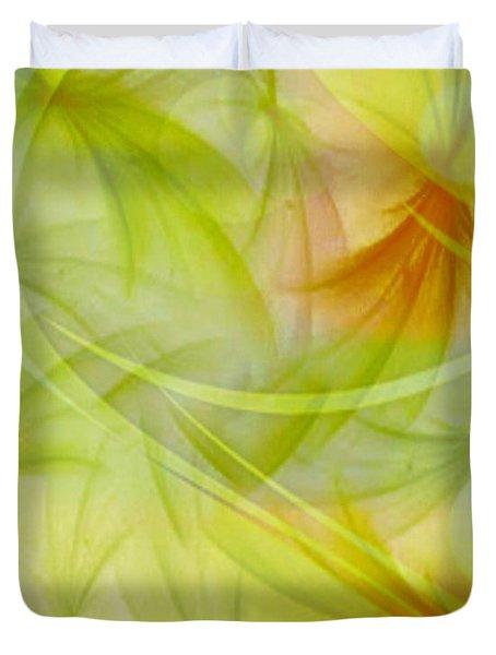 Summer Garden Abstract Duvet Cover by Judy Palkimas