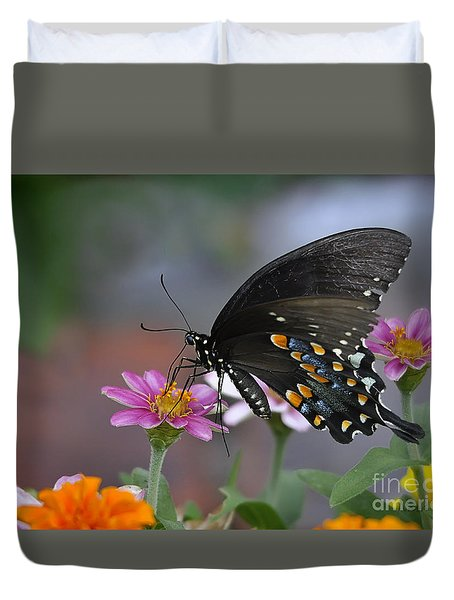 Duvet Cover featuring the photograph Summer Garden by Nava Thompson