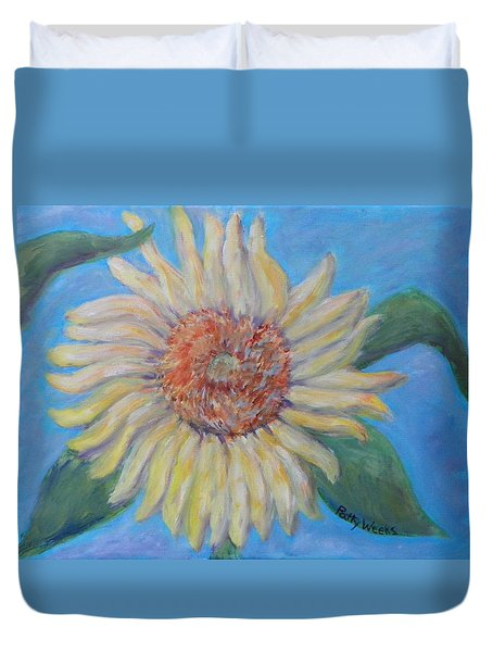 Summer Garden Sunflower Duvet Cover by Patty Weeks