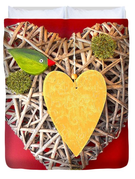 Duvet Cover featuring the photograph Summer Heart by Juergen Weiss