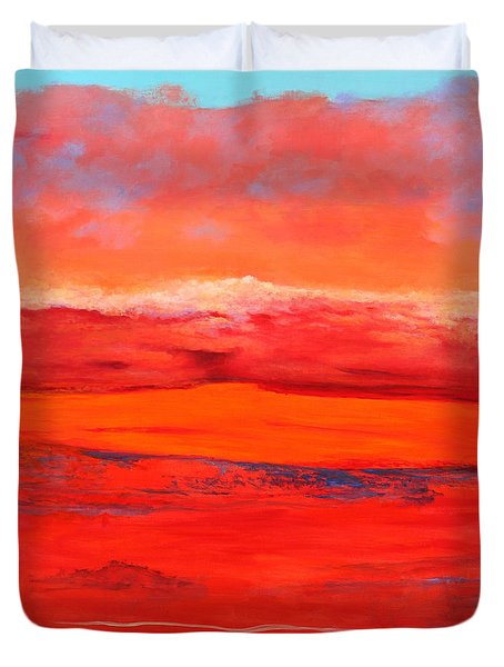 Duvet Cover featuring the painting Summer Heat 2 by M Diane Bonaparte