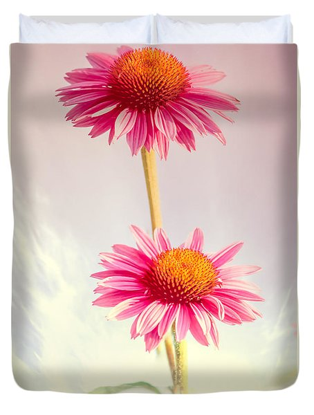 Summer Impressions Cone Flowers Duvet Cover by Bob Orsillo