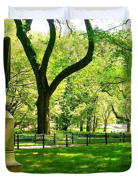 Summer In Central Park Manhattan Duvet Cover