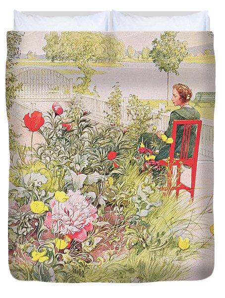 Summer In Sundborn Duvet Cover by Carl Larsson