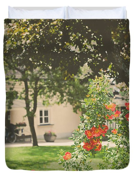 Duvet Cover featuring the photograph Summer In The Park by Ari Salmela