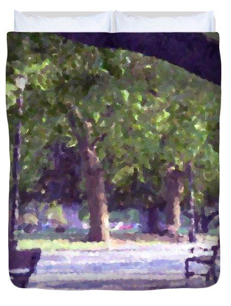 Summer In The Park Duvet Cover