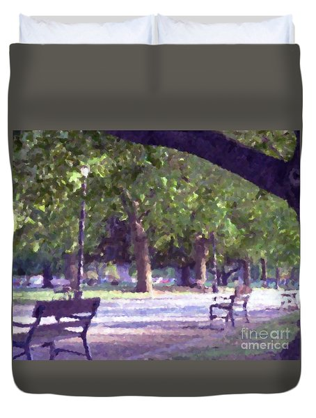 Summer In The Park Duvet Cover