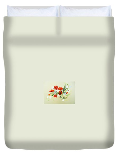 Summer Joy Bouquet Duvet Cover by Dorothy Maier