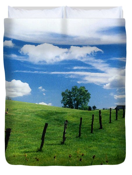 Summer Landscape Duvet Cover by Steve Karol