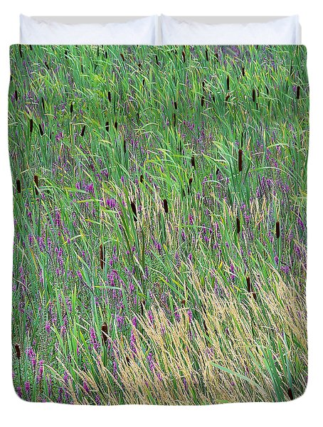 Duvet Cover featuring the photograph Summer Marsh by Alan L Graham