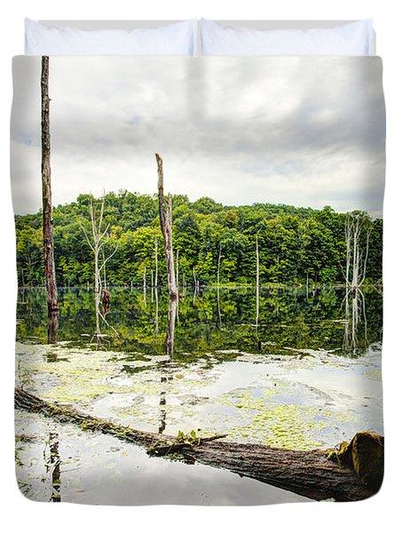 Summer Morning On Monksville Reservoir 1 Duvet Cover