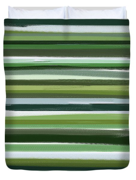 Summer Of Green Duvet Cover by Lourry Legarde