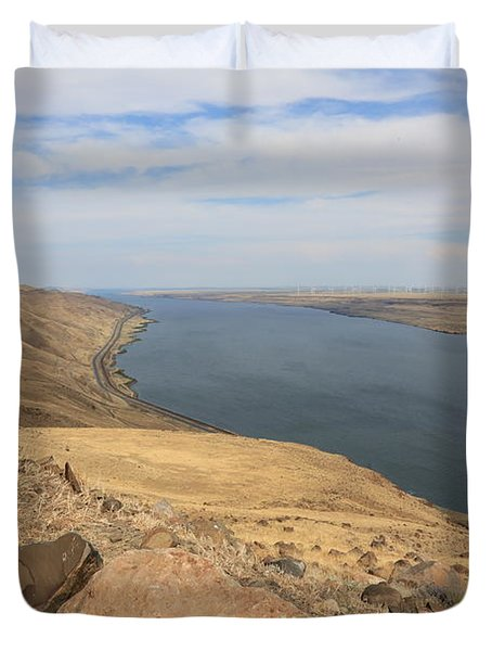 Summer On The Columbia River Duvet Cover by Carol Groenen
