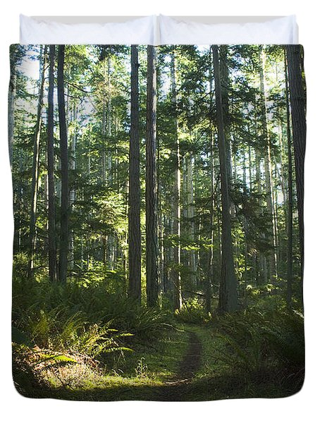 Summer Pacific Northwest Forest Duvet Cover
