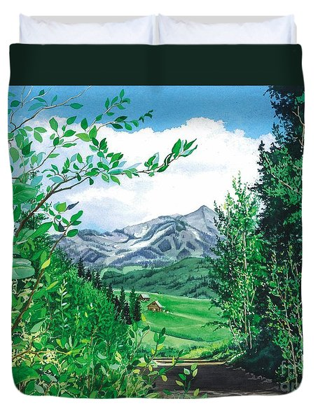 Summer Paradise Duvet Cover by Barbara Jewell