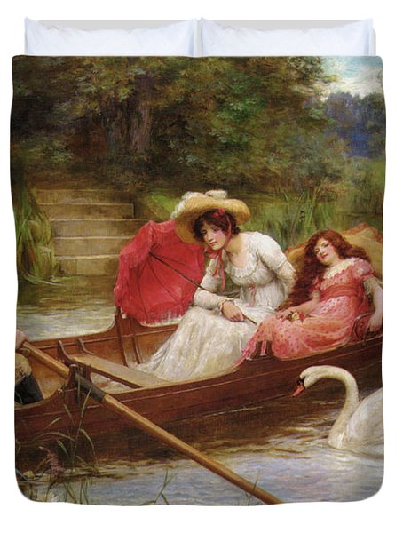 Summer Pleasures On The River Duvet Cover by George Sheridan Knowles