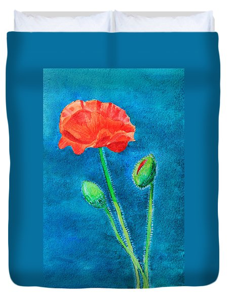 Summer Poppy Duvet Cover