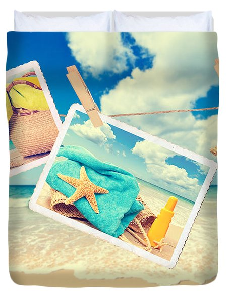 Summer Postcards Duvet Cover by Amanda Elwell