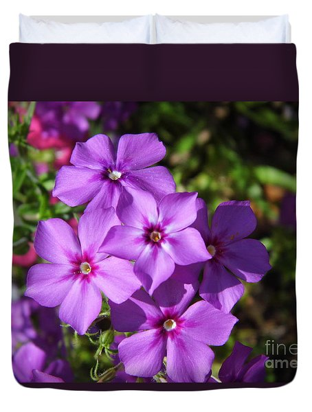 Duvet Cover featuring the photograph Summer Purple Phlox by D Hackett