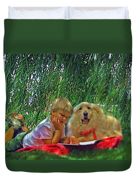 Summer Reading Duvet Cover
