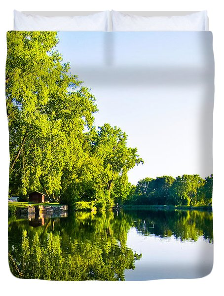 Summer Reflections Duvet Cover by Sara Frank