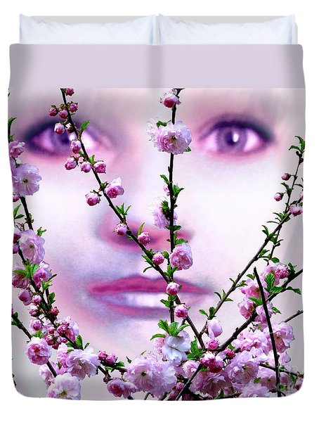 Summer Rose Duvet Cover by Tlynn Brentnall