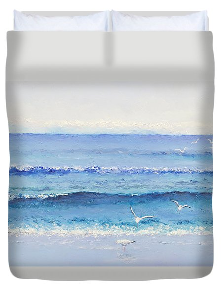 Summer Seascape Duvet Cover
