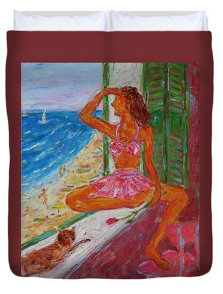 Summer Sensibility Duvet Cover by Xueling Zou