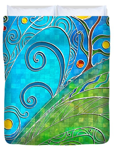 Summer Solstice Duvet Cover by Shawna Rowe
