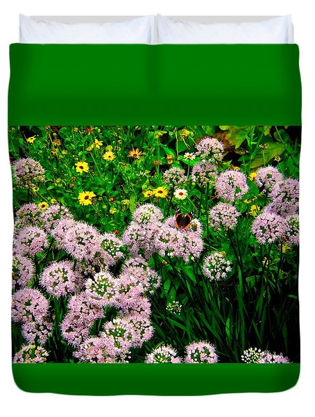 Duvet Cover featuring the photograph Summer Song by Zafer Gurel